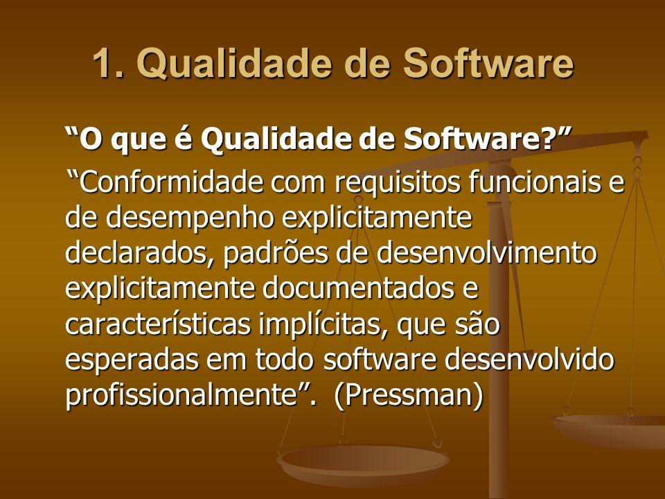 1. Qualidade de Software O que é Qualidade de Software