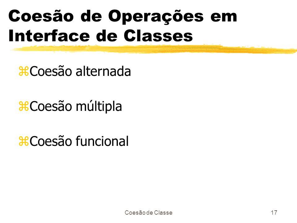 Coesão de Operações em Interface de Classes