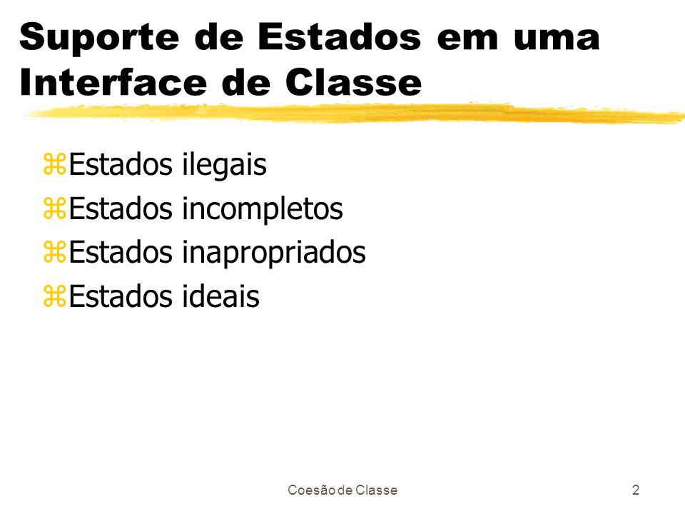Suporte de Estados em uma Interface de Classe