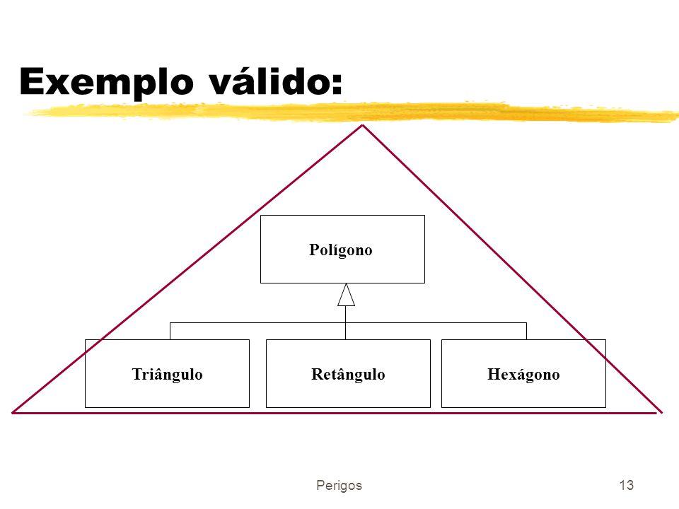 Exemplo válido: Polígono Triângulo Retângulo Hexágono Perigos