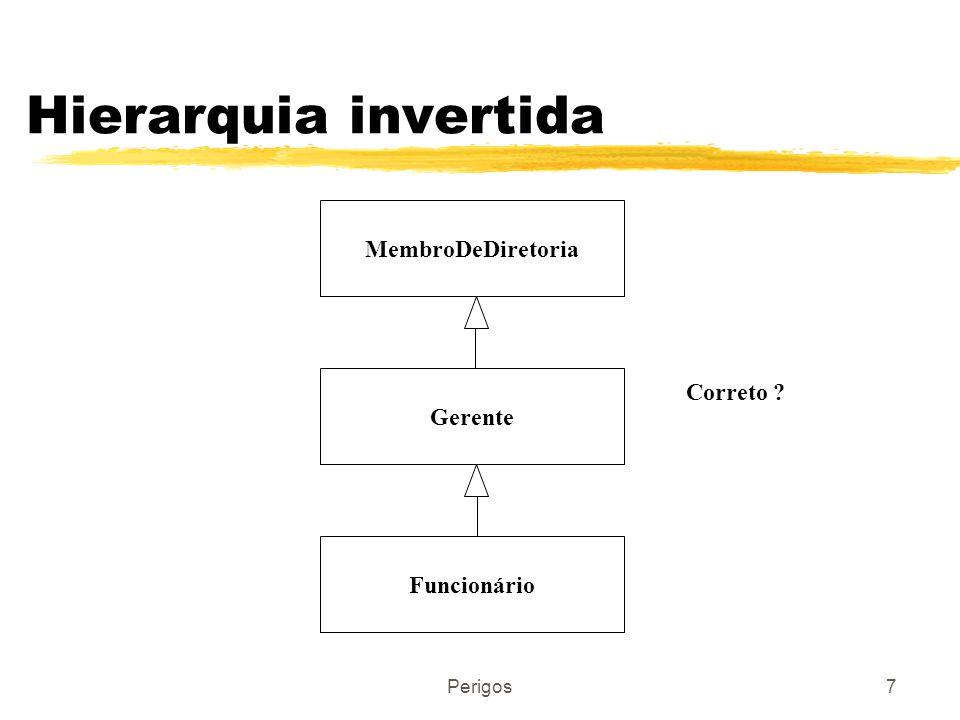 Hierarquia invertida MembroDeDiretoria Correto Gerente Funcionário