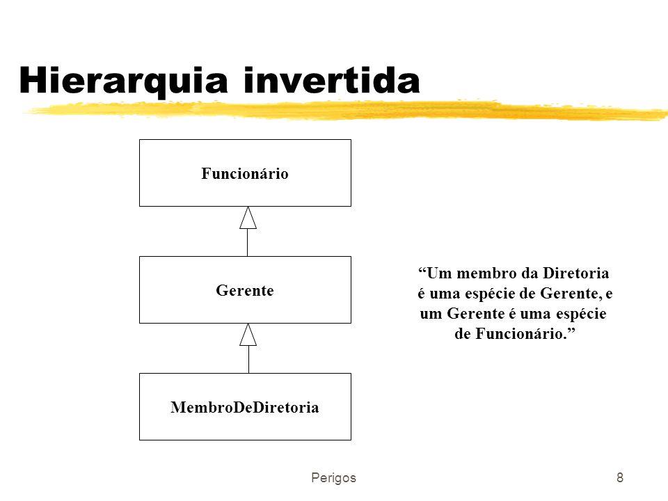 Hierarquia invertida Funcionário Um membro da Diretoria Gerente