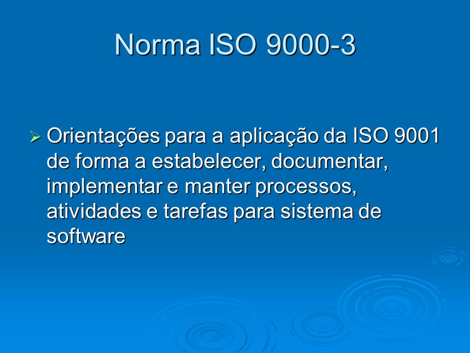 Norma ISO 9000-3