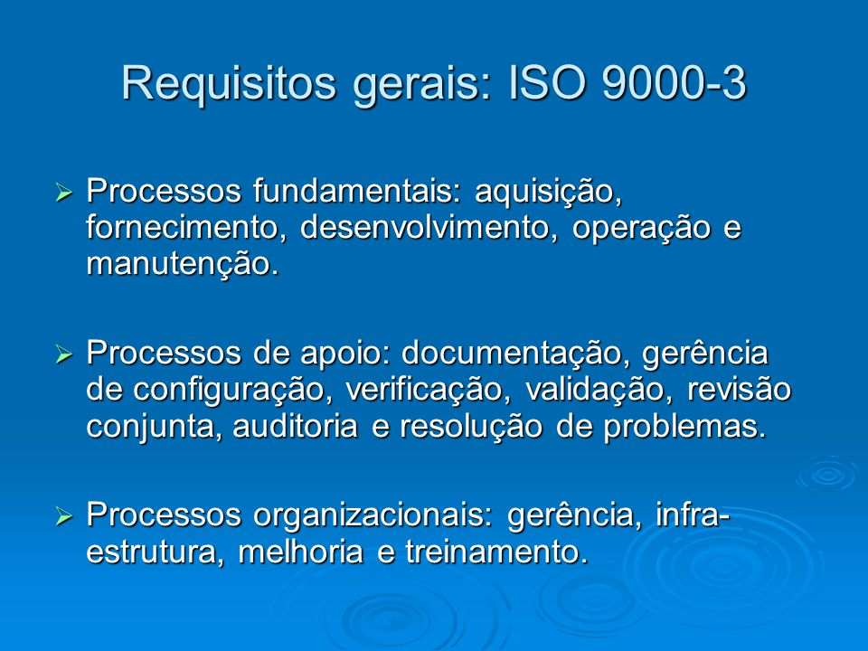 Requisitos gerais: ISO 9000-3