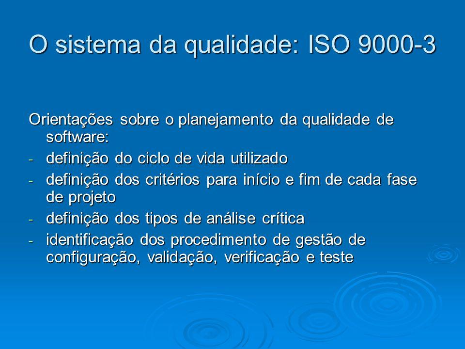 O sistema da qualidade: ISO 9000-3