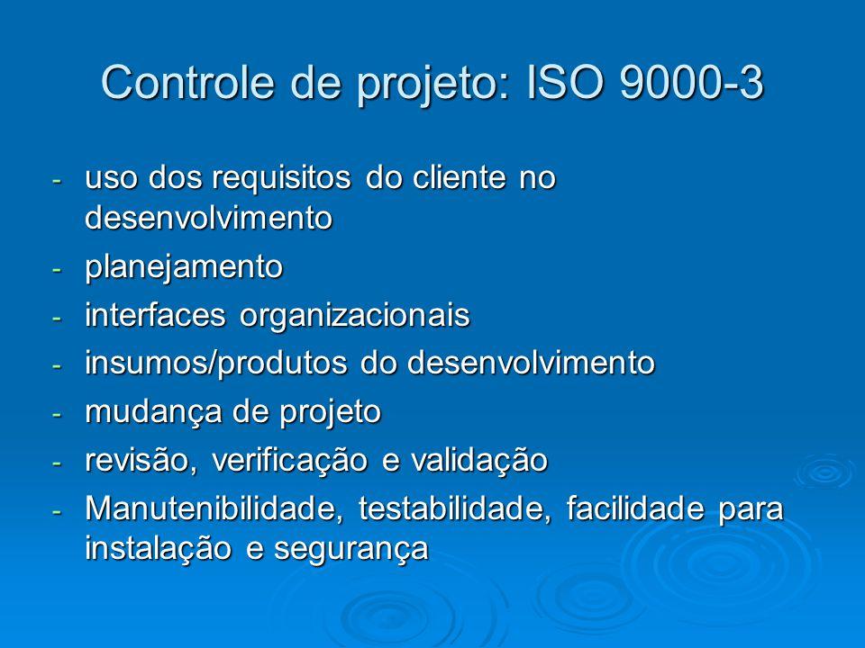 Controle de projeto: ISO 9000-3