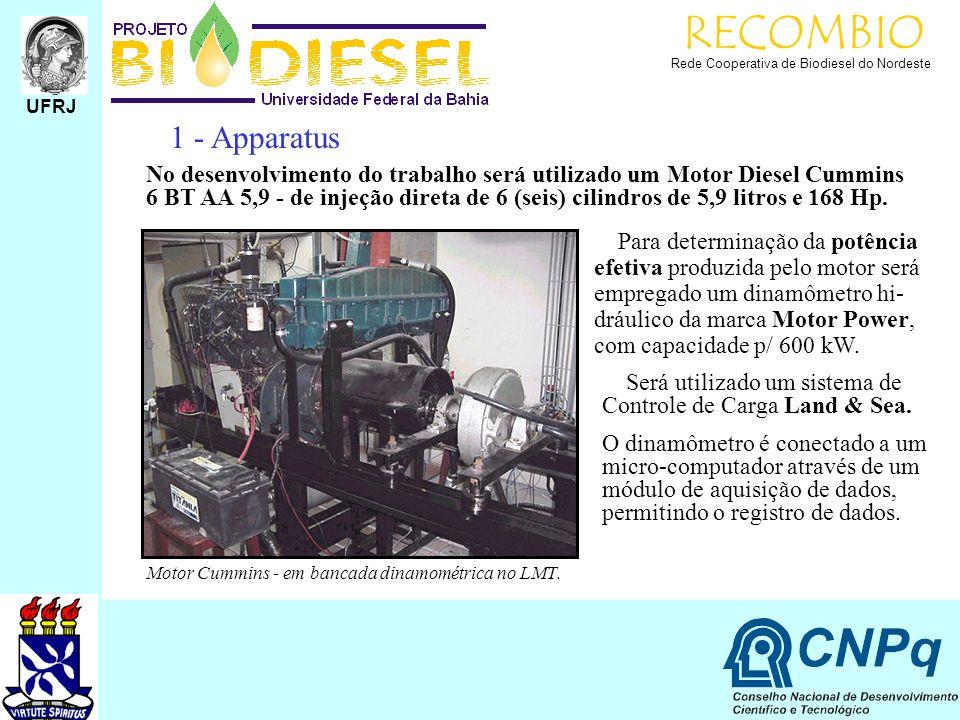 RECOMBIO UFRJ. Rede Cooperativa de Biodiesel do Nordeste. 1 - Apparatus.