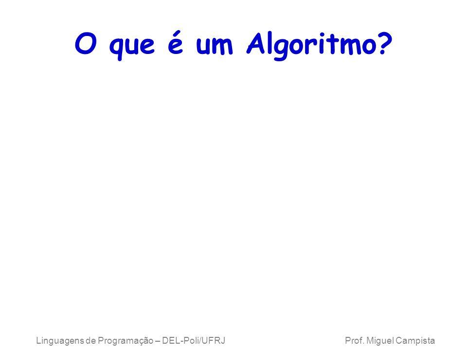 O que é um Algoritmo. Linguagens de Programação – DEL-Poli/UFRJ Prof.