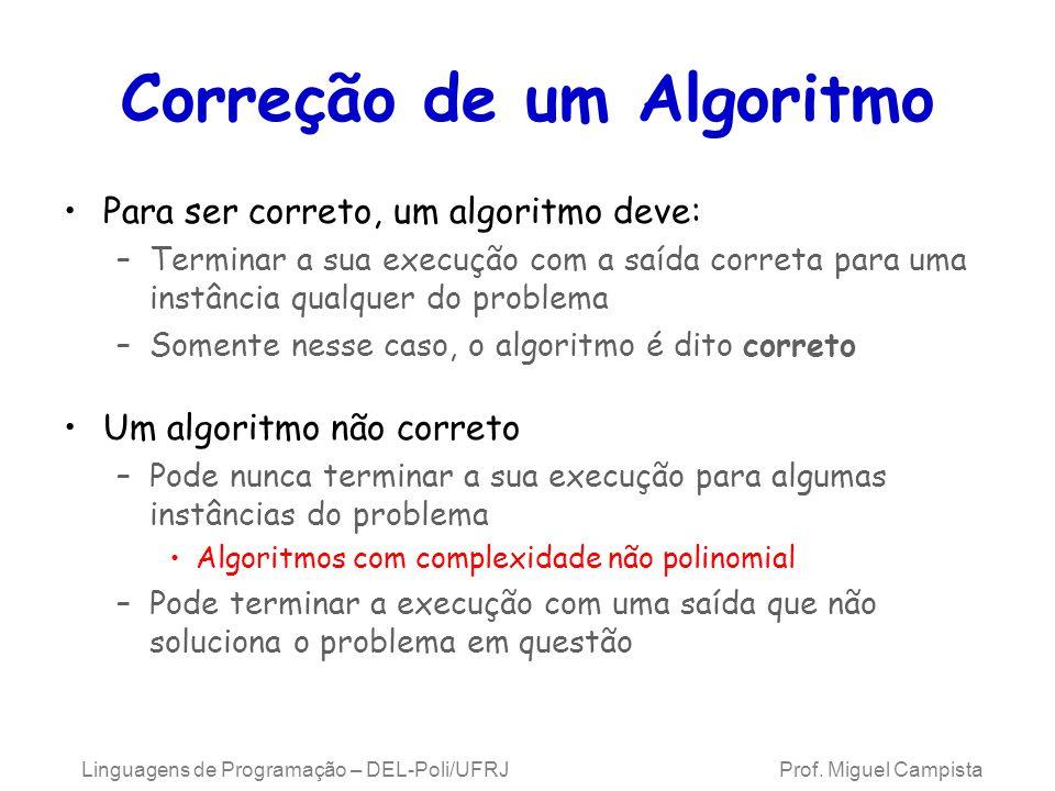 Correção de um Algoritmo