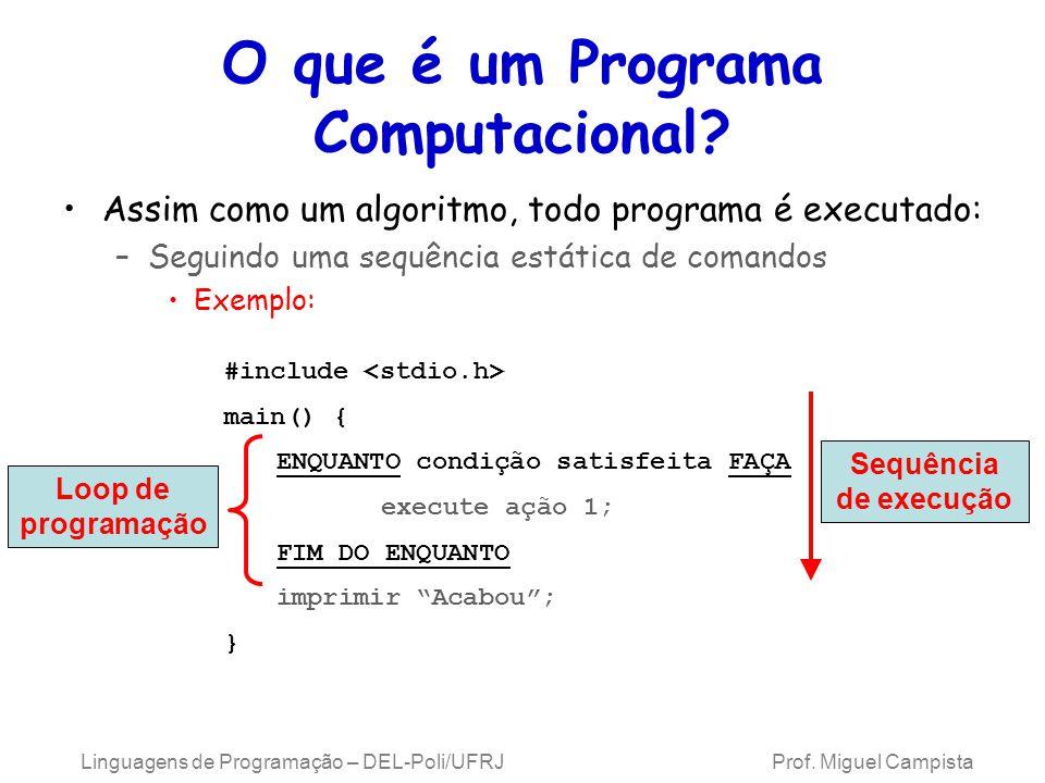 O que é um Programa Computacional