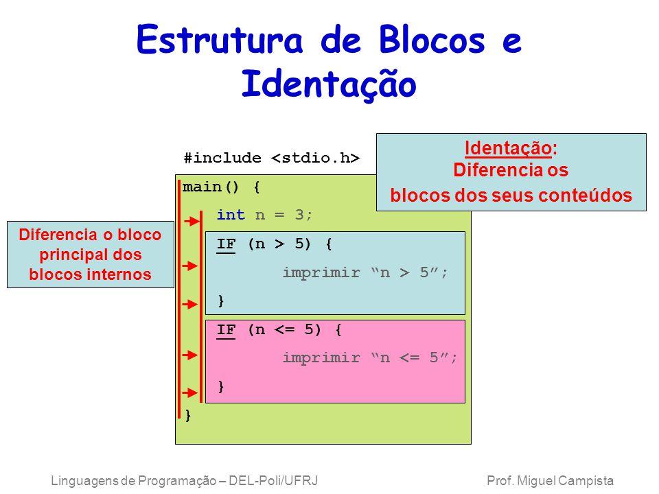 Estrutura de Blocos e Identação