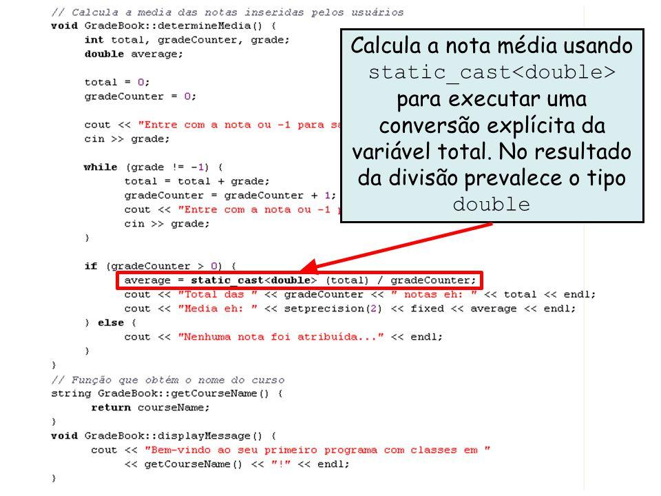 Décimo Exemplo utilizando Classes em C++