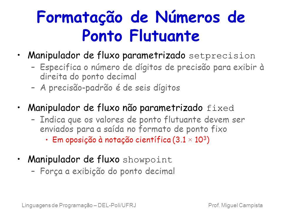 Formatação de Números de Ponto Flutuante