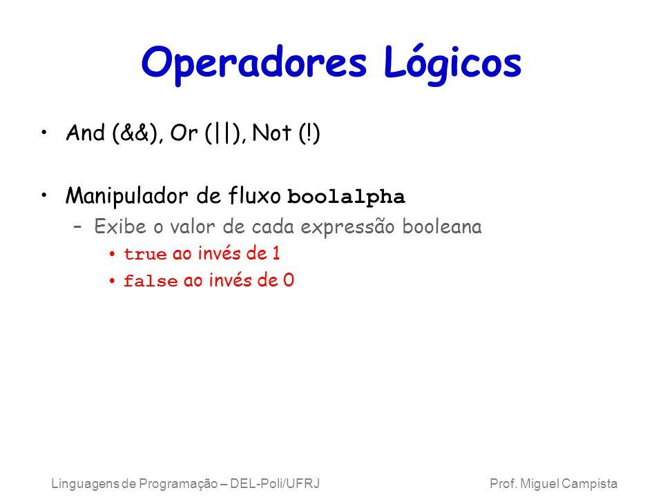 Operadores Lógicos And (&&), Or (||), Not (!)