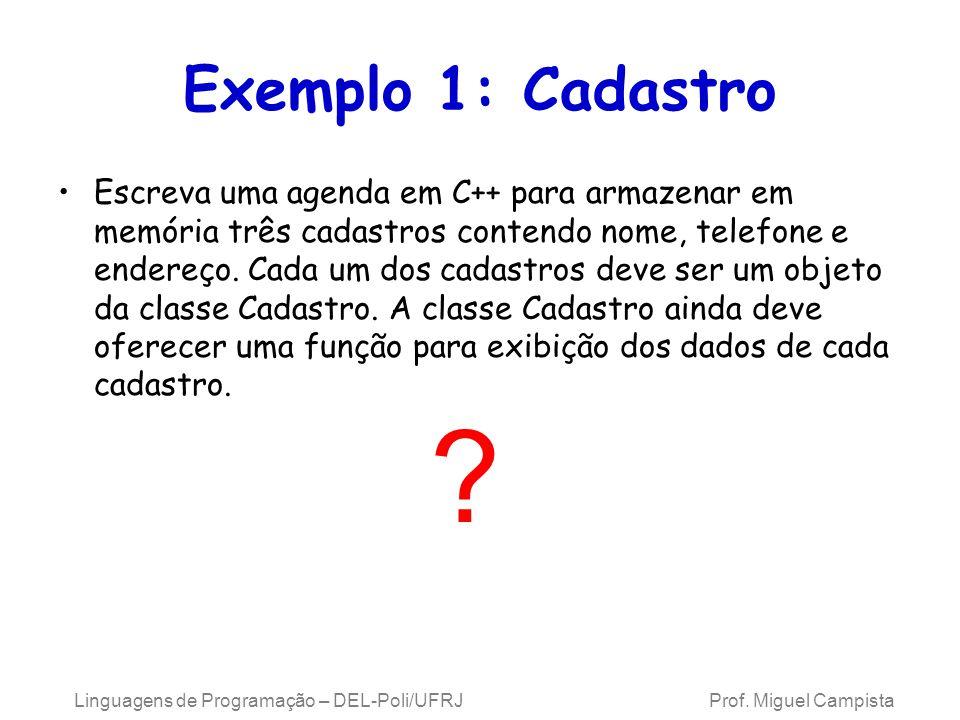 Exemplo 1: Cadastro