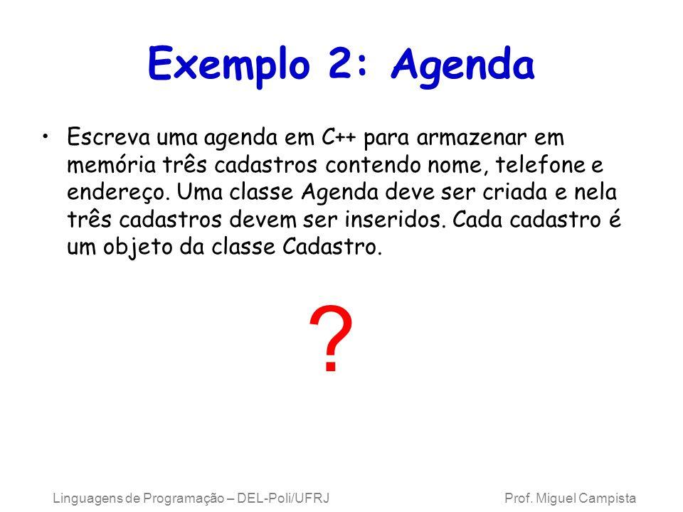 Exemplo 2: Agenda