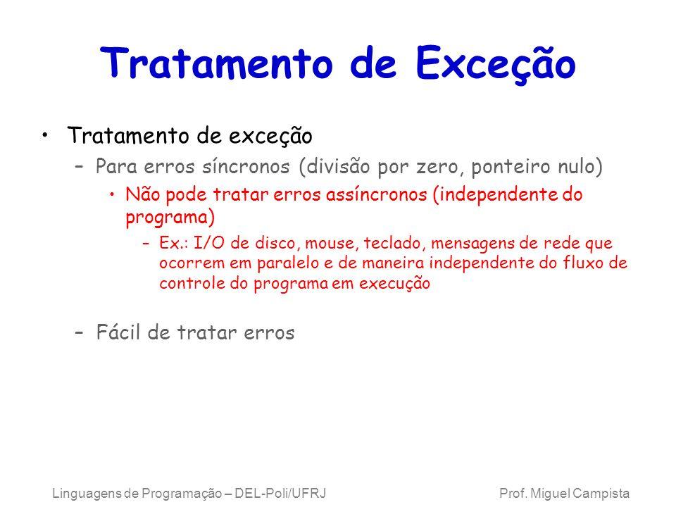 Tratamento de Exceção Tratamento de exceção