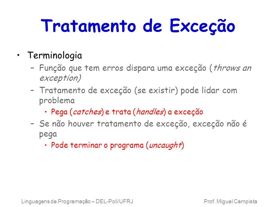 Tratamento de Exceção Terminologia