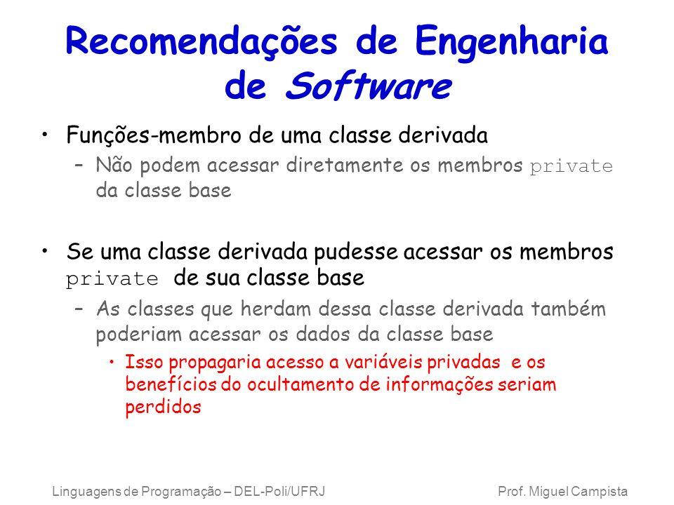 Recomendações de Engenharia de Software
