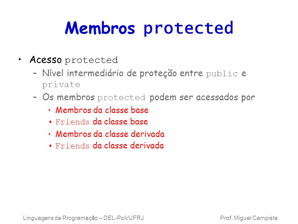 Membros protected Acesso protected