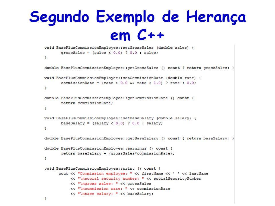 Segundo Exemplo de Herança em C++