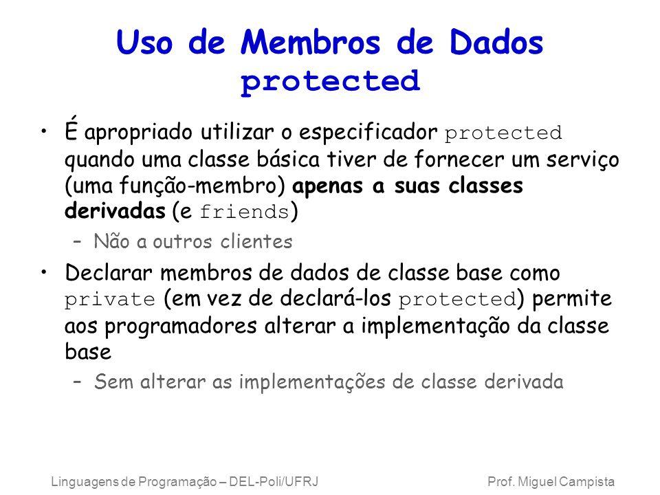 Uso de Membros de Dados protected