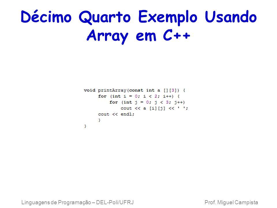 Décimo Quarto Exemplo Usando Array em C++
