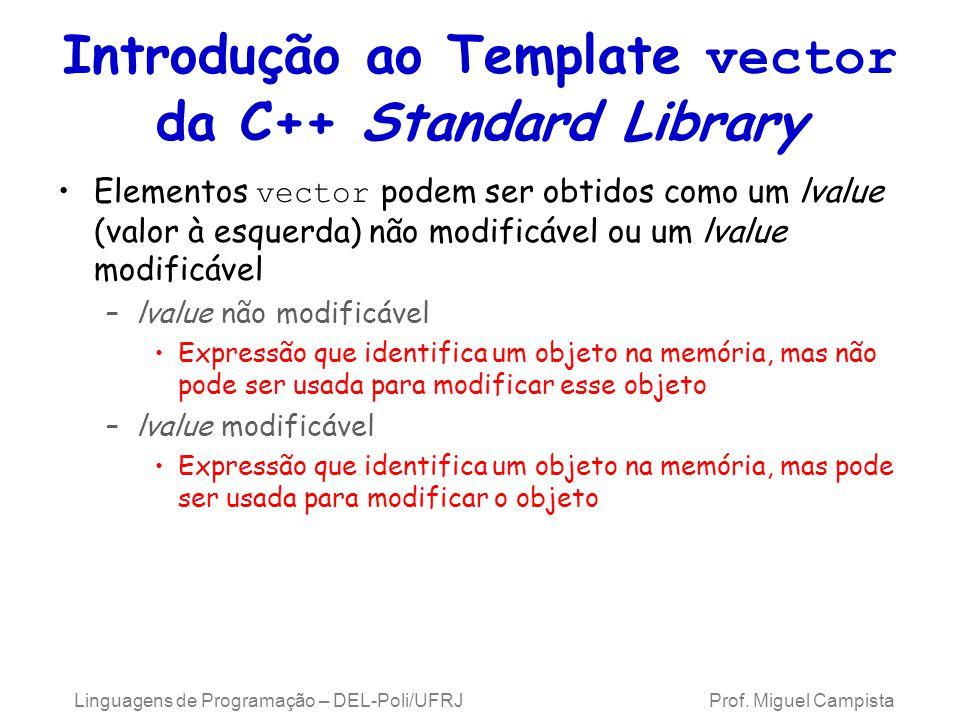 Introdução ao Template vector da C++ Standard Library
