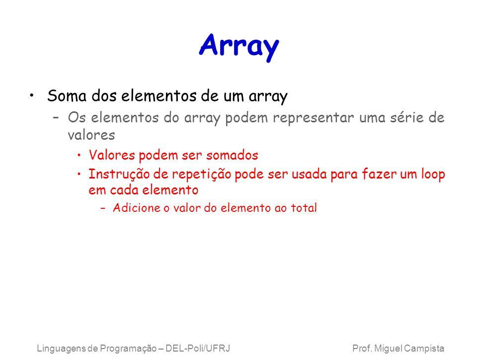 Array Soma dos elementos de um array