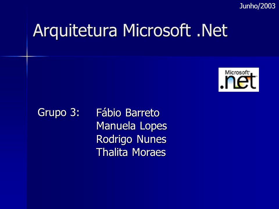 Arquitetura Microsoft .Net