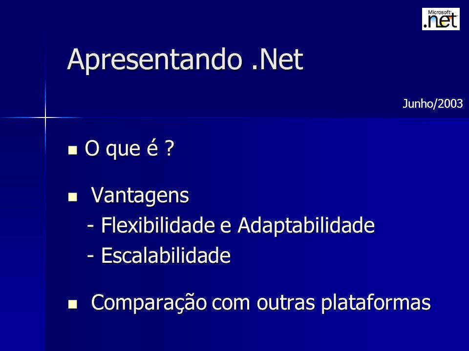 Apresentando .Net O que é Vantagens - Flexibilidade e Adaptabilidade