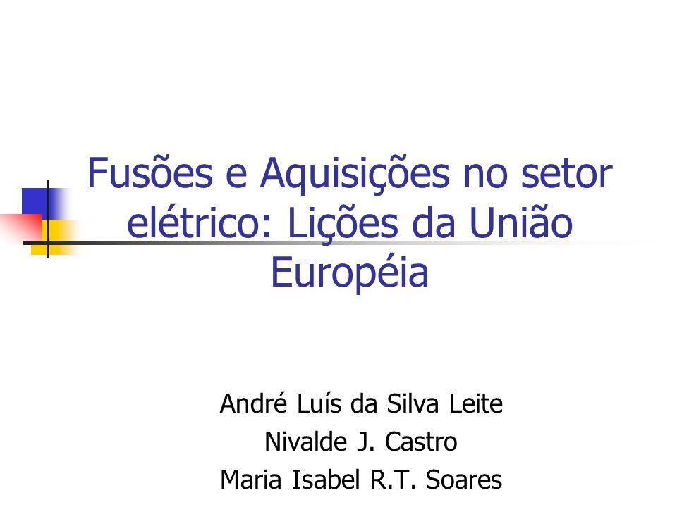 Fusões e Aquisições no setor elétrico: Lições da União Européia