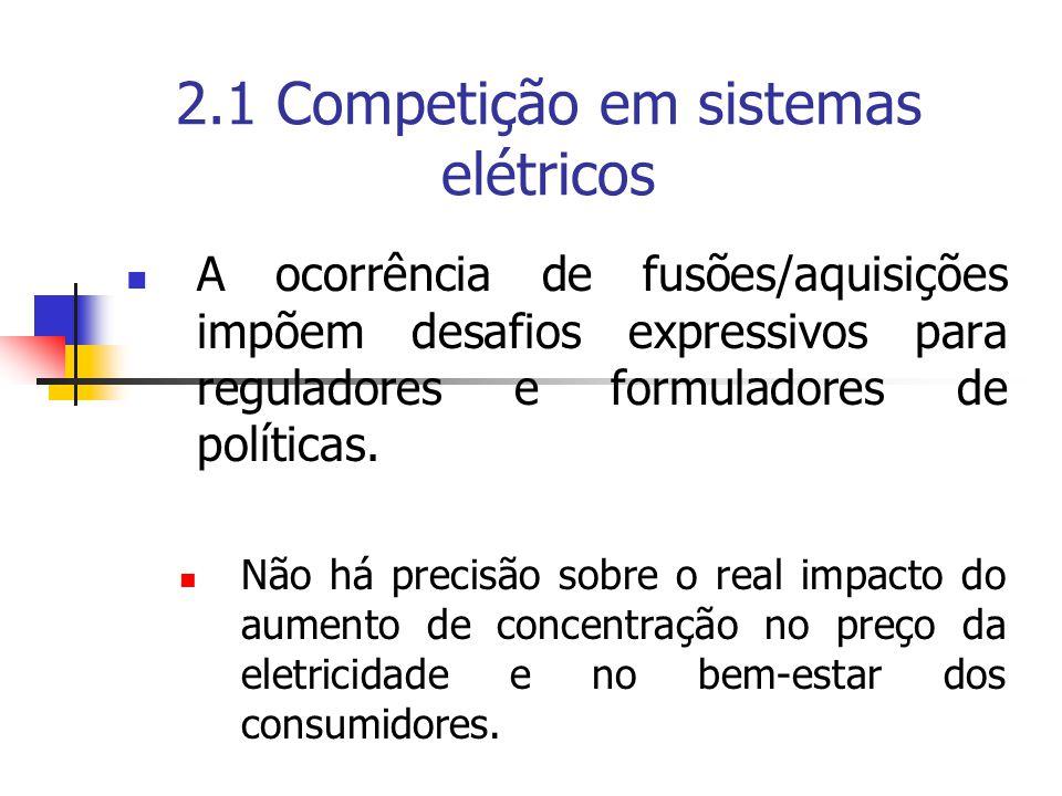 2.1 Competição em sistemas elétricos