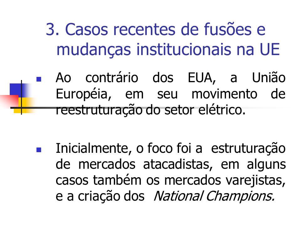 3. Casos recentes de fusões e mudanças institucionais na UE
