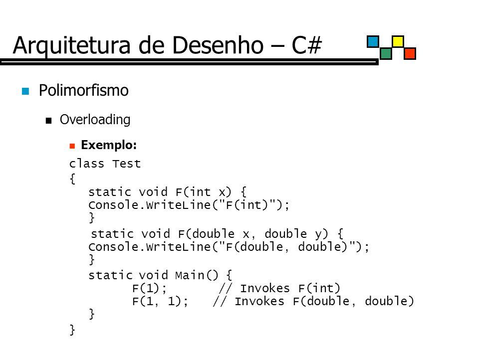 Arquitetura de Desenho – C#
