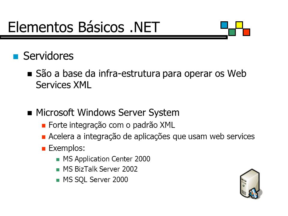Elementos Básicos .NET Servidores