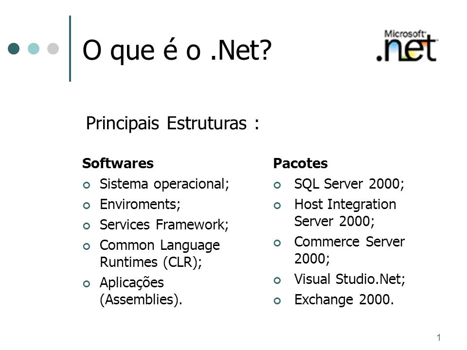 Principais Estruturas :