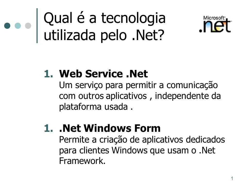 Qual é a tecnologia utilizada pelo .Net
