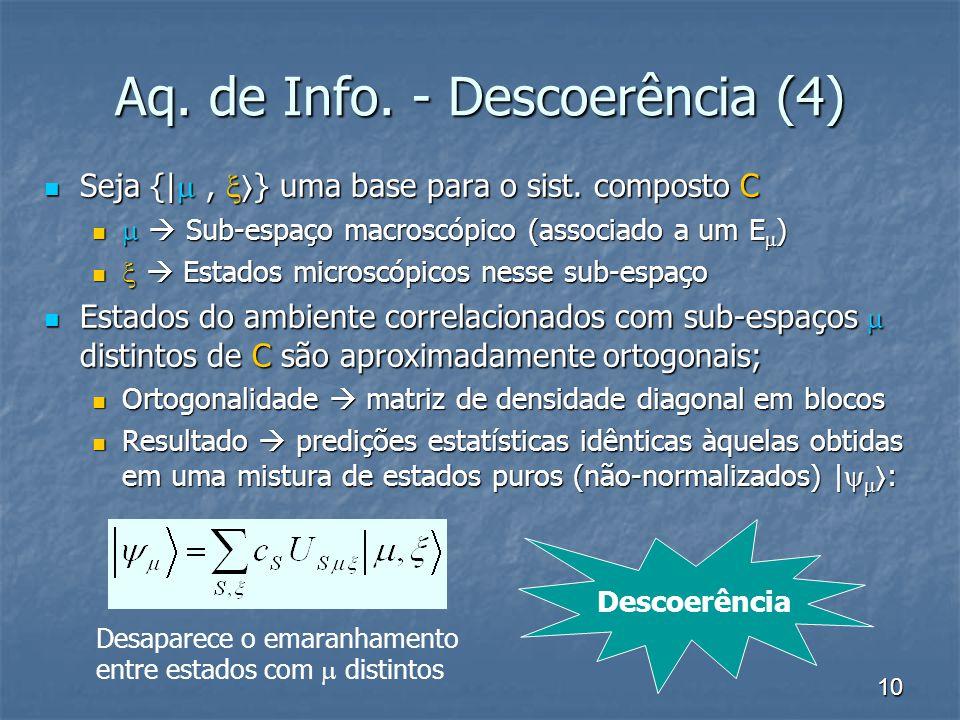 Aq. de Info. - Descoerência (4)