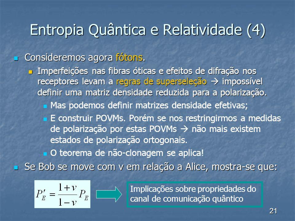 Entropia Quântica e Relatividade (4)