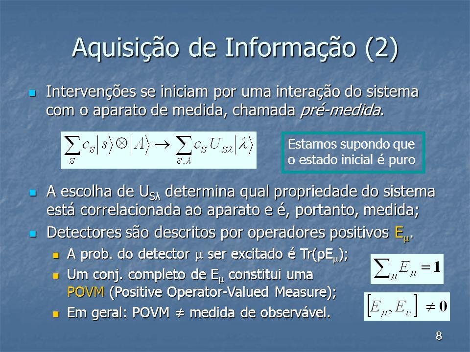 Aquisição de Informação (2)