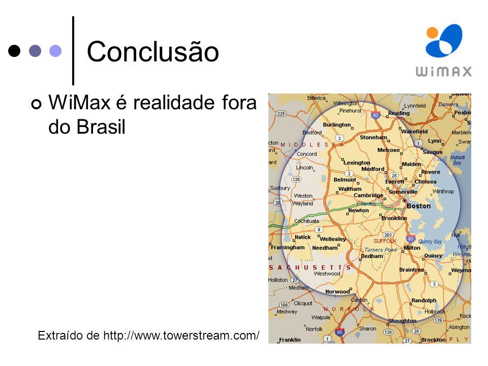 Conclusão WiMax é realidade fora do Brasil