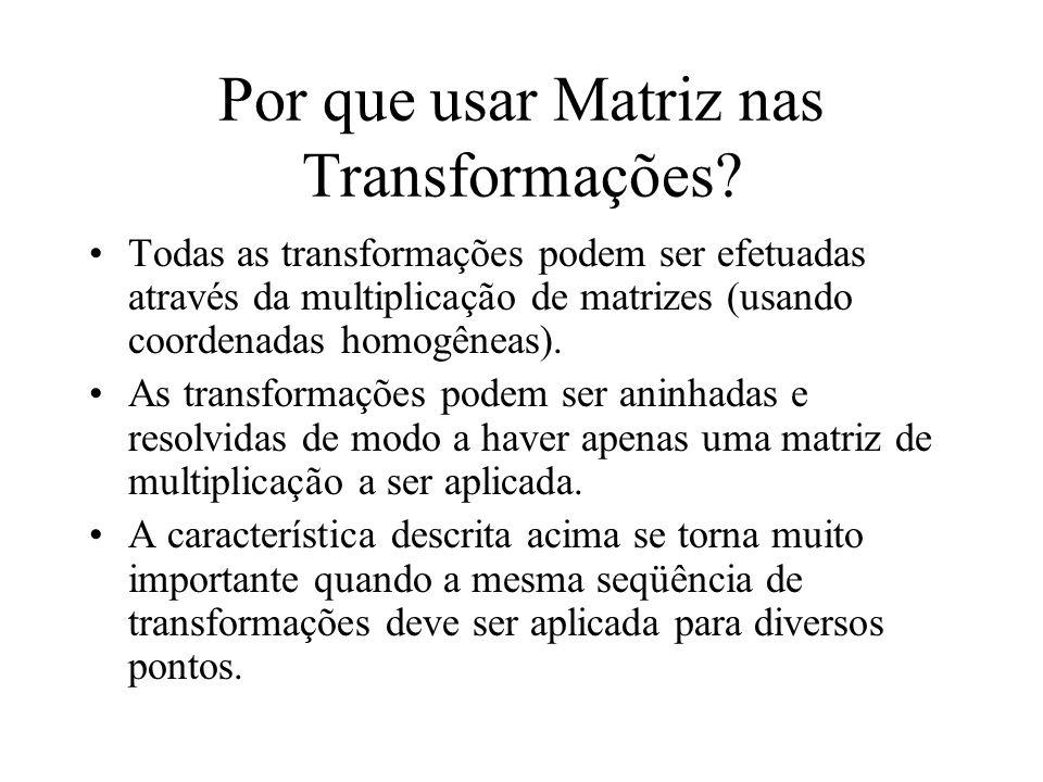 Por que usar Matriz nas Transformações