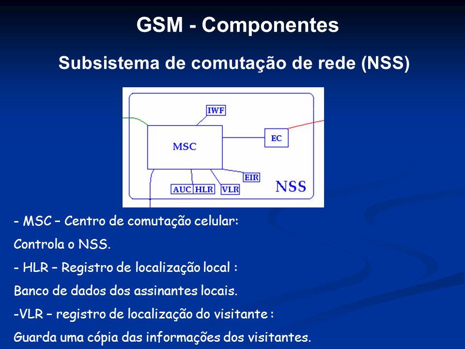 Subsistema de comutação de rede (NSS)