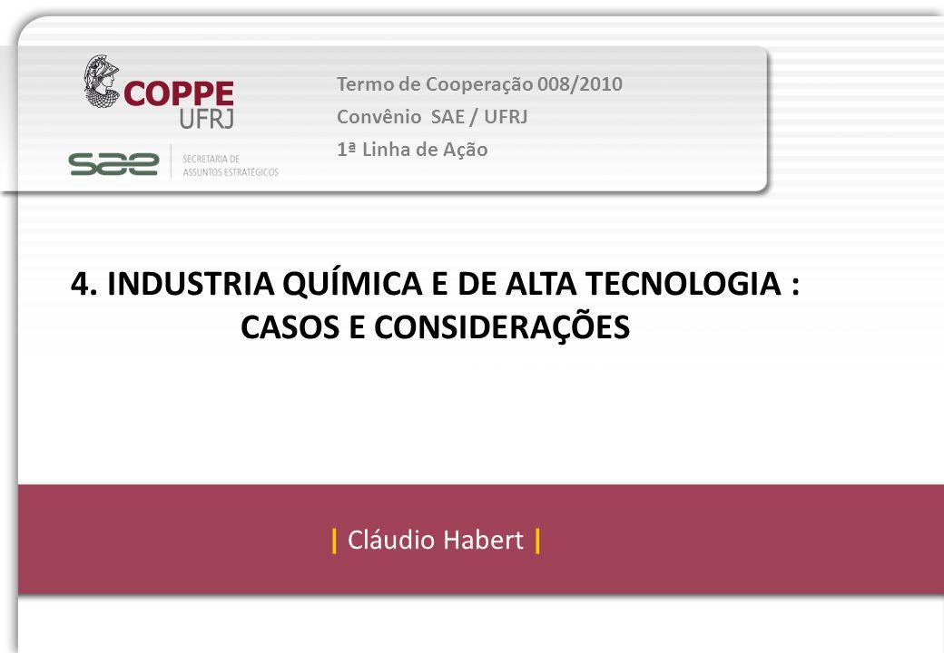 4. INDUSTRIA QUÍMICA E DE ALTA TECNOLOGIA :