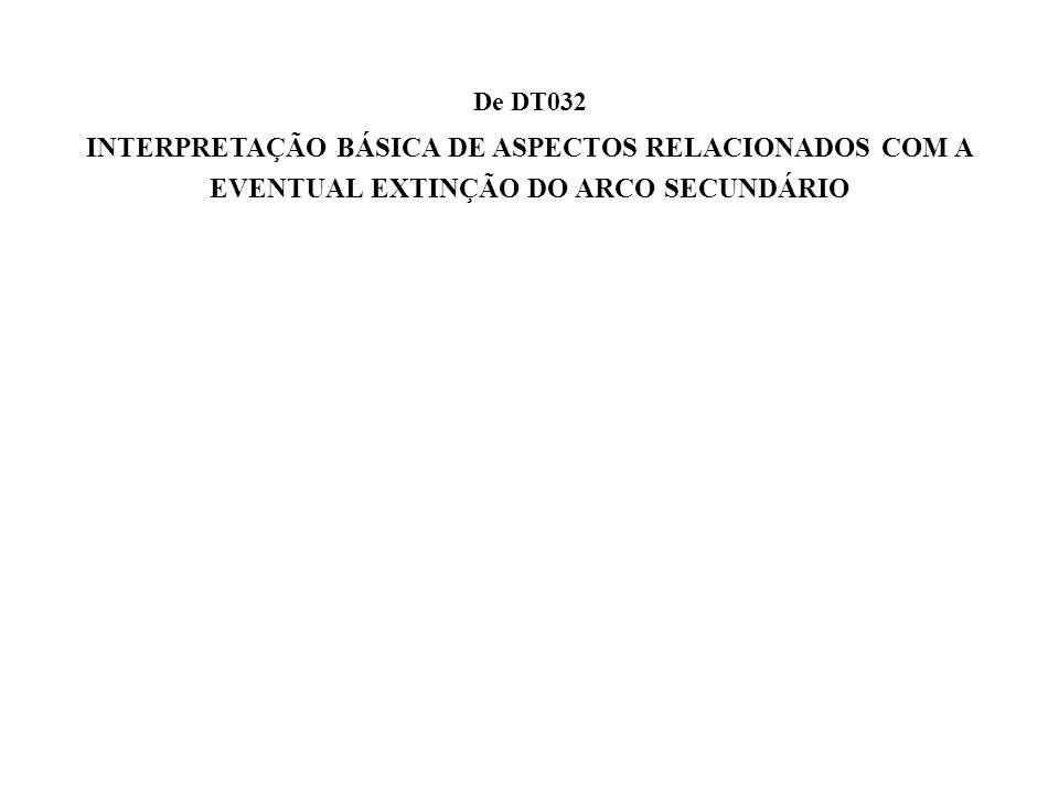 a De DT032 INTERPRETAÇÃO BÁSICA DE ASPECTOS RELACIONADOS COM A EVENTUAL EXTINÇÃO DO ARCO SECUNDÁRIO