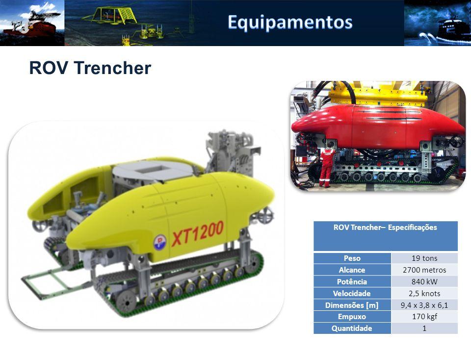 ROV Trencher– Especificações