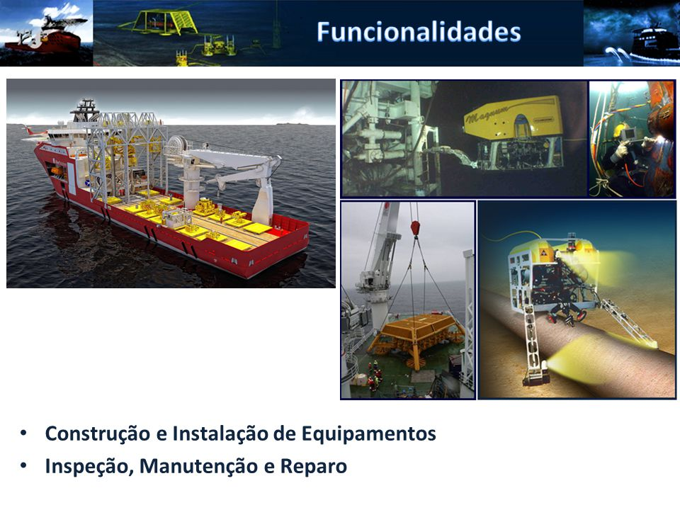 Funcionalidades Construção e Instalação de Equipamentos