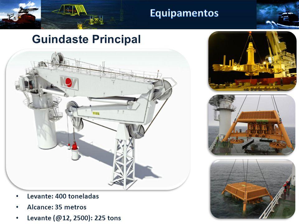 Equipamentos Guindaste Principal Levante: 400 toneladas