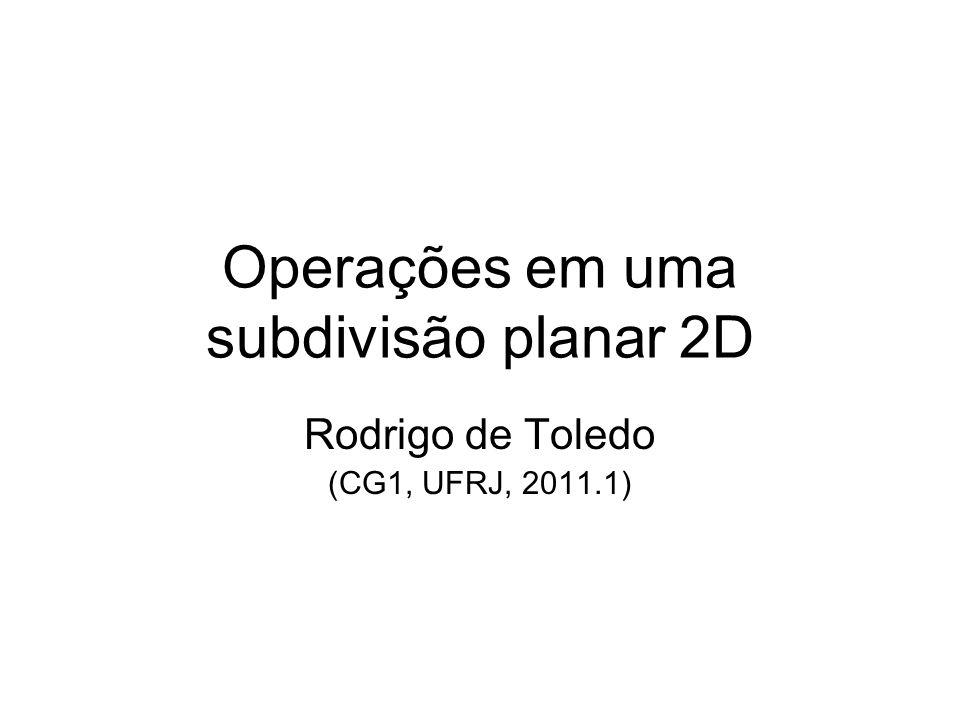 Operações em uma subdivisão planar 2D